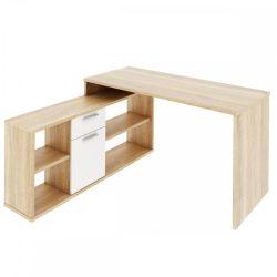 NOE NEW Számítógépasztal sonoma tölgy/fehér