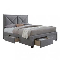 XADRA luxus modern ágy nagy steppel fejtámlával és praktikus tároló helyekkel több méretben