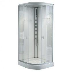Alíz 90x90 cm íves hidromasszázs zuhanykabin