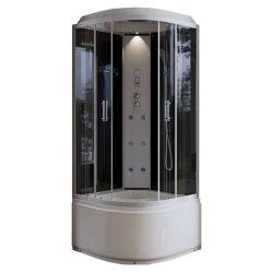 Léna DEEP Black elektronikás hidromasszázs zuhanykabin