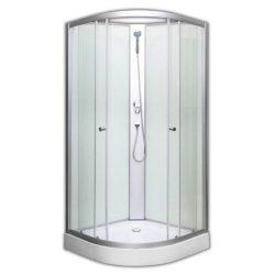 Harbor 90x90 cm hátfalas zuhanykabin zuhanyszettel zuhanytálcával