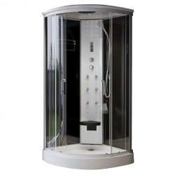 Eponin ONE Black elektronikás hidromasszázs zuhanykabin