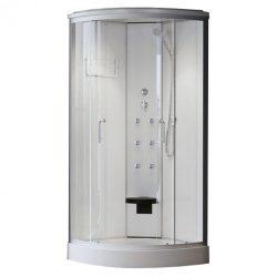 Eponin White 90x90 cm íves hidromasszázs zuhanykabin