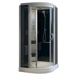Leonardo 100x100 cm íves elektronikás hidromasszázs zuhanykabin
