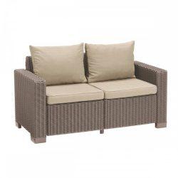 California 2 üléses műrattan kerti kanapé