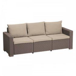 California 3 üléses műrattan kerti kanapé