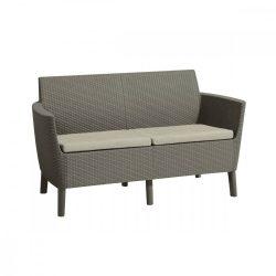 Salemo 2 üléses műrattan kerti kanapé
