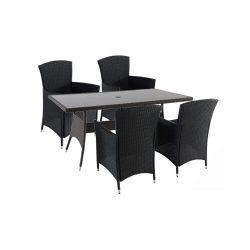 Lima Atlantic 4+1 kerti bútor garnitúra fekete