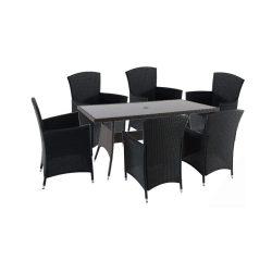Lima Atlantic 6+1 kerti bútor garnitúra fekete