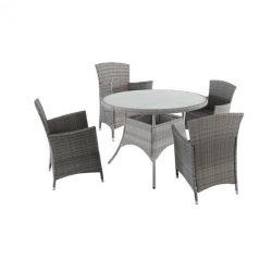 Santiago Atlantic 4+1 kerti bútor garnitúra fekete