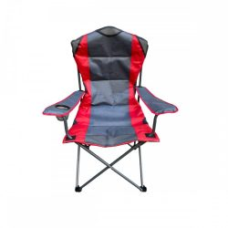 Grafit-piros kerti szék