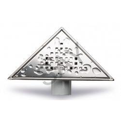 SAY Kackar háromszög padlóösszefolyó/zuhanyszifon