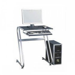 JOFRY Számítógépasztal fekete+ezüst