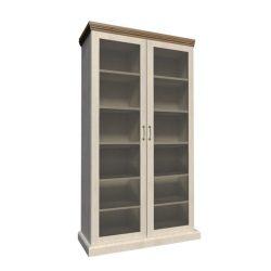ROYAL WS Vitrin üveg ajtóval északi erdei fenyő/tölgy