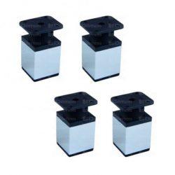 Bútorláb, szögletes, 40x40x150 mm, alu-elox