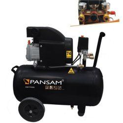 Olajkenéses kompresszor 1500W, 8atm, 50liter, 200l/min, két manométer, két gyorszáras