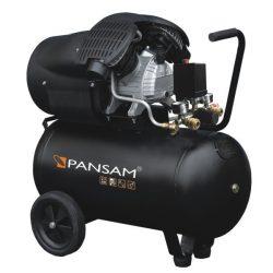 Olajkenéses kompresszor, két hengeres, 2,3kW, 50l, 412l/min, két manométer, két gyorszáras
