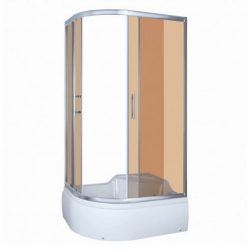 Azalia 80x120 cm íves aszimmetrikus mélytálcás zuhanykabin