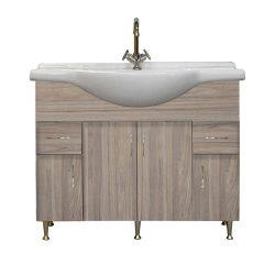 Bianca Plus 105 alsó szekrény mosdóval, rauna szil színben
