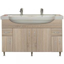 Bianca Plus 130 alsó szekrény mosdóval, sonoma tölgy színben