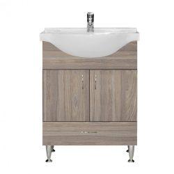 Bianca Plus 65 alsó szekrény mosdóval, rauna szil színben