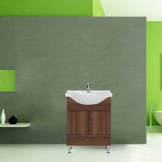 Bianca Plus 65 alsó szekrény mosdóval, sötét dió színben