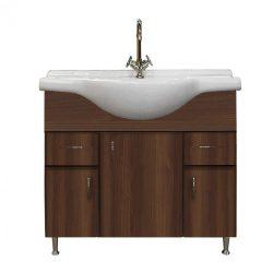 Bianca Plus 85 alsó szekrény mosdóval, aida dió színben