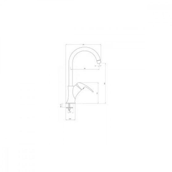 Dalia mosogató csaptelep U alakú kifolyócsővel króm