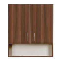 Bianca Plus 60-as Faliszekrény 2 ajtóval, nyitott alsó résszel, aida dió színben