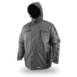 Téli bélelt dzseki kapucnival, méret M