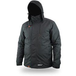 Téli bélelt dzseki, kihúzható kapucni, méret L