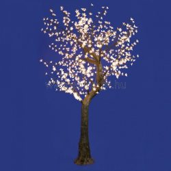 LED-es, virágzó cseresznyefa dekoráció, 768 LED, melegfehér