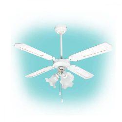 Mennyezeti ventilátor, fehér, 3xE27 lámpa, 105 cm, 50 W
