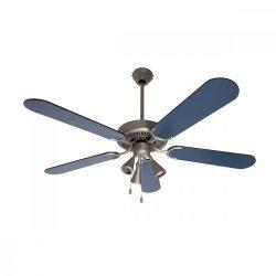 Mennyezeti ventilátor, kék, 3xGU10 lámpa, 130 cm, 60 W