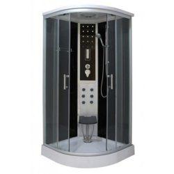 Comfort 100x100 cm íves hidromasszázs zuhanykabin