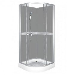 Classic 80x80 cm Grey hátfalas zuhanykabin zuhanytálcával
