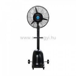 Centrifugális párásító ventilátor (motor, párásító tárcsa, tartály, kerekek)