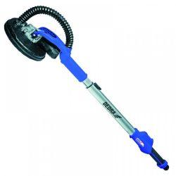 Csiszoló gipszkartonhoz sebességváltóval 620W, állítható hossz 128-159cm, sarkakhoz való hozzáférés, perforált tárcsa, 4,5 m hosszú elszívócso