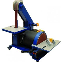 Tárcsás-szalagcsiszoló gép, cserélhető csiszolószalaggal, 300W,csiszolótárcsa 127mm, szalagméret 762x25mm