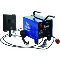 Transzformátoros hegesztőgép 180A 230V/400V, ipari dugó, forrasztókábel, elektródatartó, védopajzs, kefe, kalapács