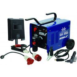 Transzformátoros hegesztőgép 250A 230V/400V, forrasztókábel, elekrtódatartó 1,5m, védopajzs, kefe, kalapács.