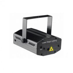 Lézerprojektor, diszkó fényeffekt, 230V