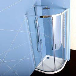 POLYSAN EASY LINE 80x80 cm íves zuhanykabin zuhanytálca nélkül