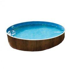 Lagoon Deluxe merevfalú kerek medence, homokszűrővel, mistry fóliás 360x110 cm