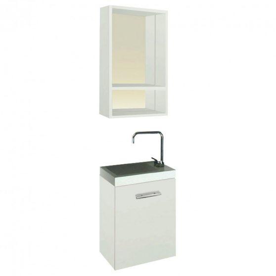 Fantastic fürdőszoba bútor, fehér színben
