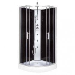 FARO 90x90 cm íves hidromasszázs zuhanykabin