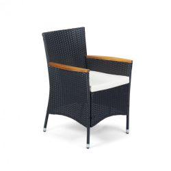 FDZN 6010-PR rattan kerti szék, fa betétekkel