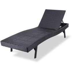 FDZN 6007-PR fémvázas, rattan kerti napozó ágy
