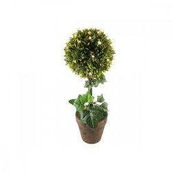LED-es buxus, 25 LED, melegfehér
