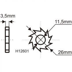 16db tartalékpenge H1260-as géphez